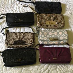 Handbags - Coach Croc Large Clutch